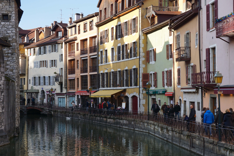 Bunte Häuser in Annecy