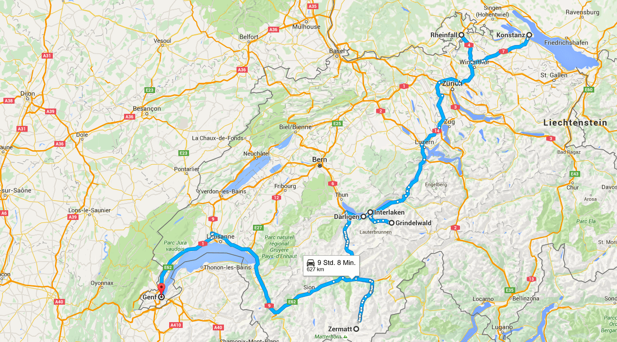 Roadtrip through Switzerland